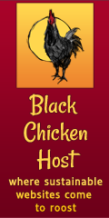 Black Chicken Host Logo