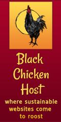 Black Chicken Host Logo