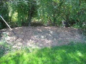 a grass compost pile