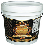 One gallon pail of Tropical Traditions Gold Label Virgin Coconut Oil