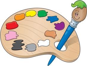 A pallet of paint