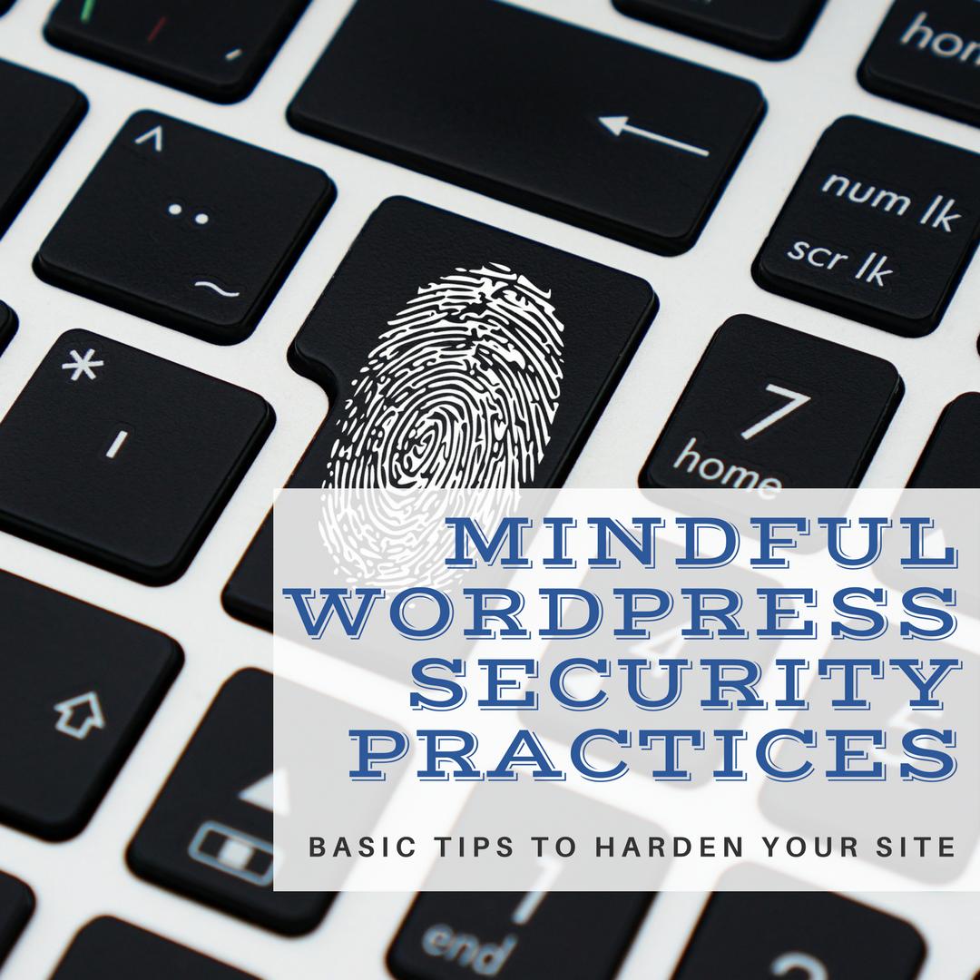 Mindful WordPress Security Practices